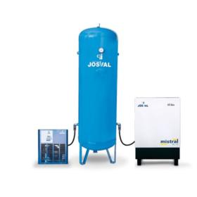 Josval Complete installatie Schroefcompressor met ketel en droger 7,5 Pk 270 L 900 l/min