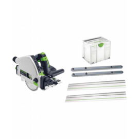 Festool – TS 55 REBQ-Plus-FS – Invalzaag – Actieset incl. 2x geleiderail & 2x koppelstuk