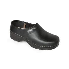 stroevels pu 304 schoenklomp dichte hiel zwart