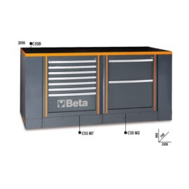 Beta C55B/1 Werkbank samenstelling 7 Ladenblok 2 Ladenblok