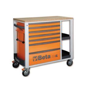 Beta 2400SL-O/VI2T Verrijdbare werkbank met 153-delige gereedschapsset voor industrieel onderhoud