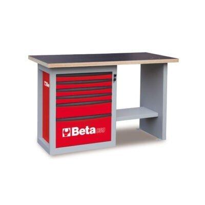 Beta c59c g endurance werkbank met ladenblok met 6 for Ladenblok rood