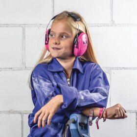 Peltor KID gehoorkap met hoofdbeugel Roze